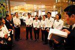 1958年に日本初のビュッフェレストランとして開業。月2万5000人が利用する。