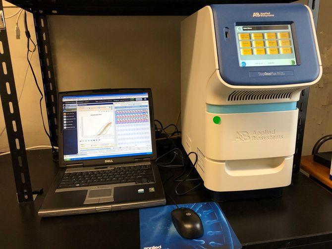 PCR検査をする機材