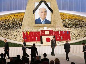 中曽根康弘元首相の内閣・自由民主党合同葬儀(2020年10月17日)。