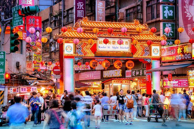 街夜市で台北
