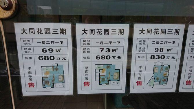 中国の不動産店の広告