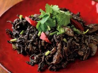 切り干し大根の黒胡麻クミン炒めのレシピ