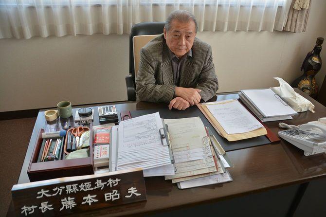 姫島村の藤本昭夫村長。任期32年は、現職としては全国最多となる