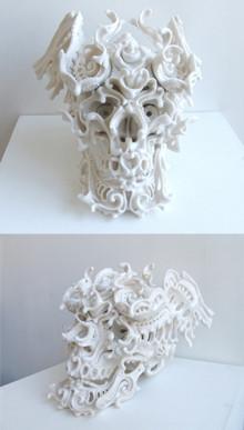 塩原さんが予算をプールして購入したお気に入りの作品<br> 青木克世「予知夢 X」(2009)Courtesy : Roentgenwerke AG