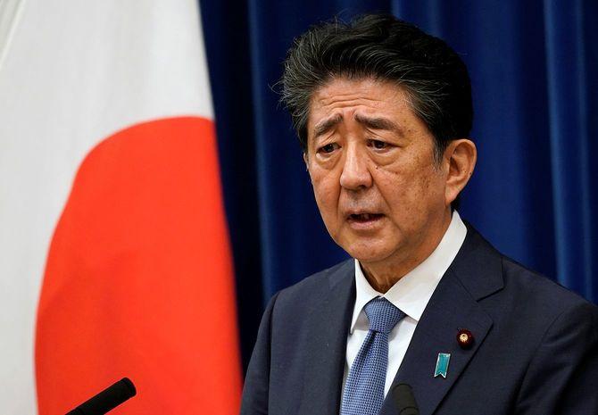 2020年8月28日、首相官邸で行われた安倍内閣総理大臣記者会見