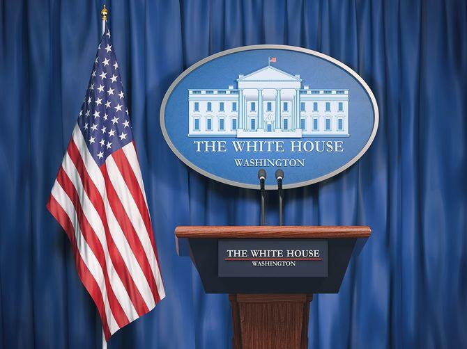 ホワイトハウスとアメリカの大統領アメリカの政治概念を状態します