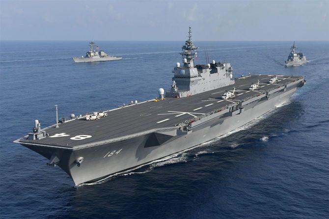 平成30年度インド太平洋派遣部隊の護衛艦「かが」などの護衛艦部隊