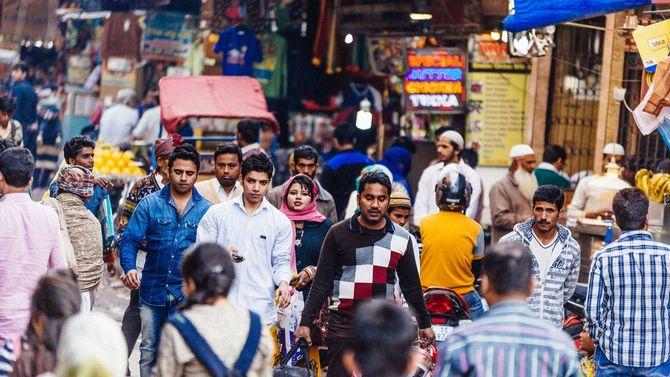 インド・オールドデリーの通り