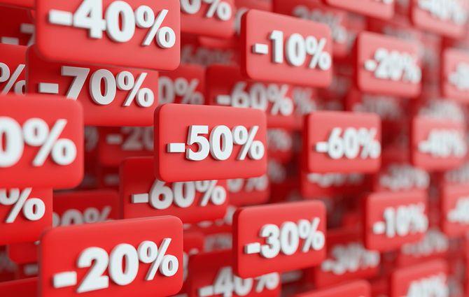 価格低減の3Dレンダリング図