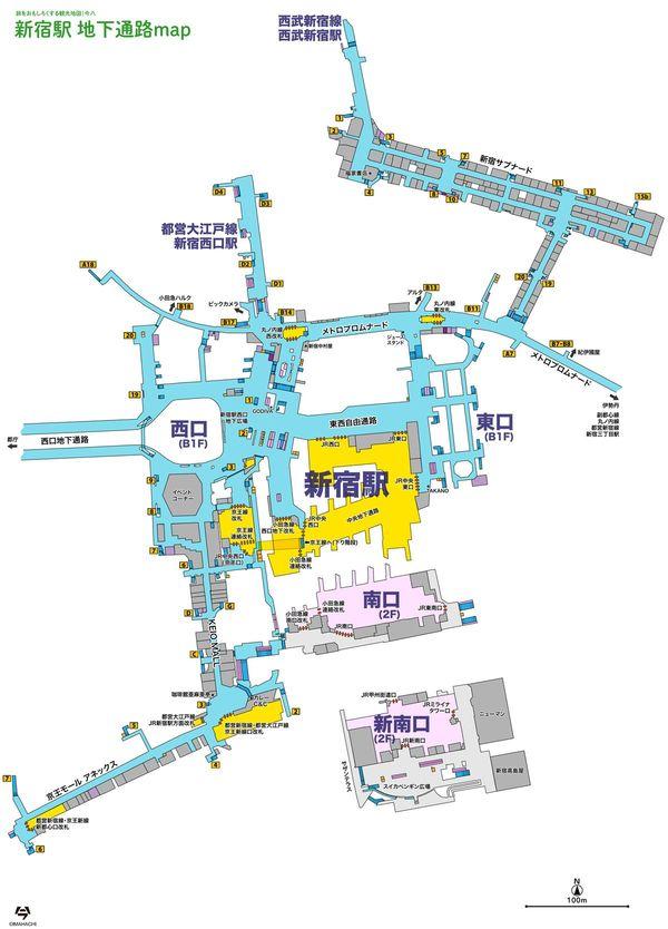 東京新宿地下通路