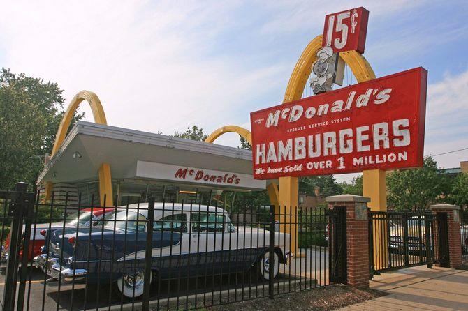 米イリノイ州にあるマクドナルドストア1号店ミュージアム