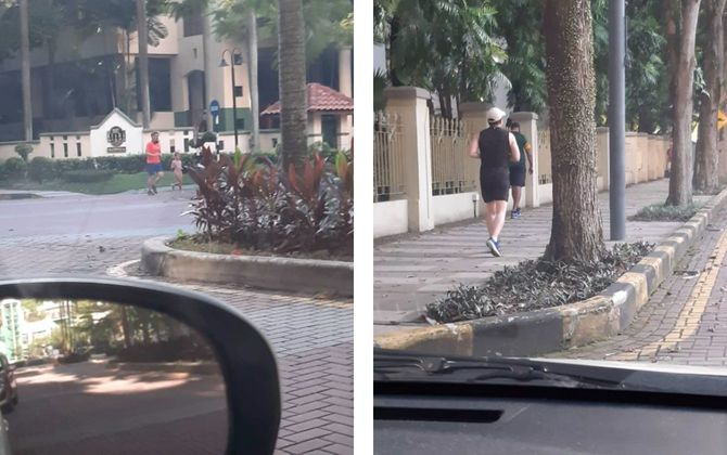 クアラルンプールの高級住宅街でジョギングをする外国人駐在員と思われる人々の写真が、市民によりツイッターに投稿された?