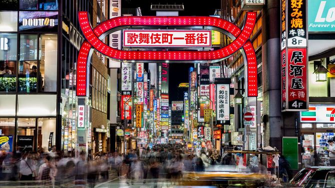 夜の新宿・歌舞伎町