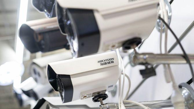 中国に本社を置く精密機械大手の監視カメラ
