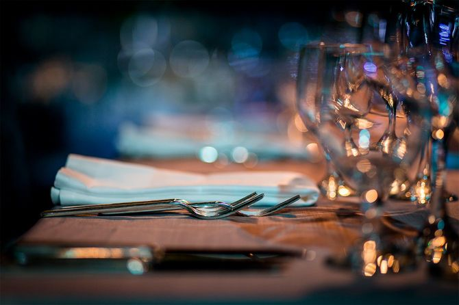 豪華なテーブルセッティング
