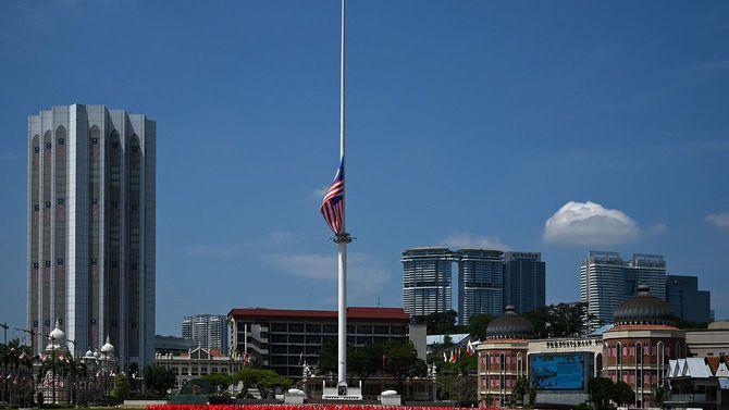 掲揚されるマレーシアの国旗
