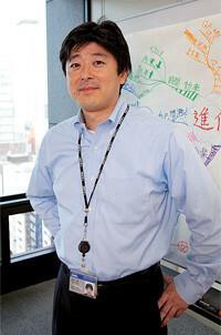 マインドマップ会議を課会に導入した無機化学品課課長の中村敦氏。