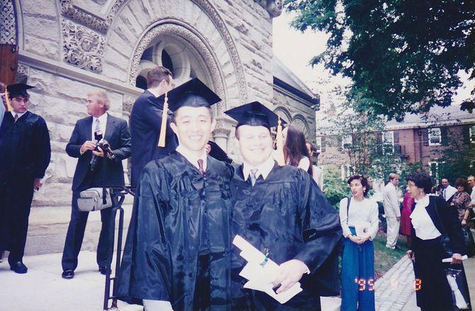 卒業時の写真