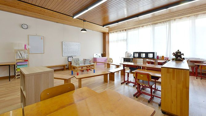 大日向小学校の教室