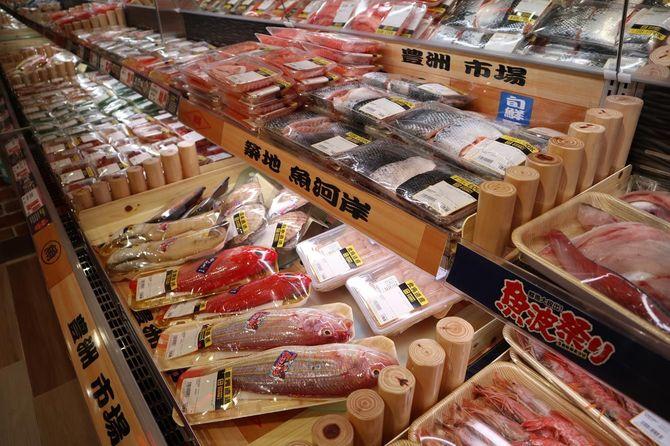 魚介類売り場