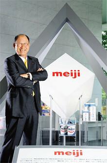 明治ホールディングス代表取締役副社長<br><strong>浅野茂太郎</strong><br>1943年生まれ。66年学習院大学法学部卒業後、明治乳業入社。95年取締役人事部長就任。専務取締役などを経て、2003年代表取締役社長。09年4月から明治ホールディングス副社長を兼務。「誰のそばにもいつもいる明治にしたい」。