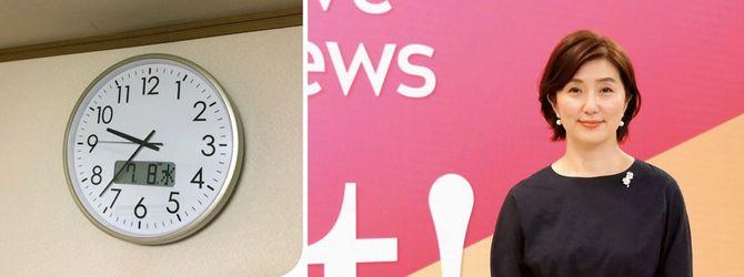 (左)チャイムの鳴る時計(右)佐々木さん