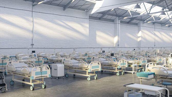 パンデミック倉庫の臨時病院