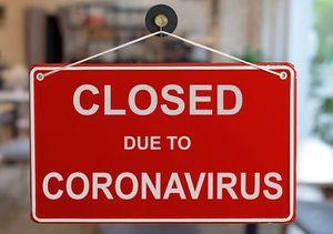 コロナウイルスのため閉鎖