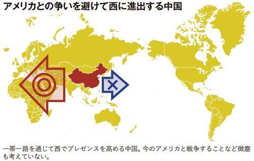 アメリカとの争いを避けて西に進出する中国