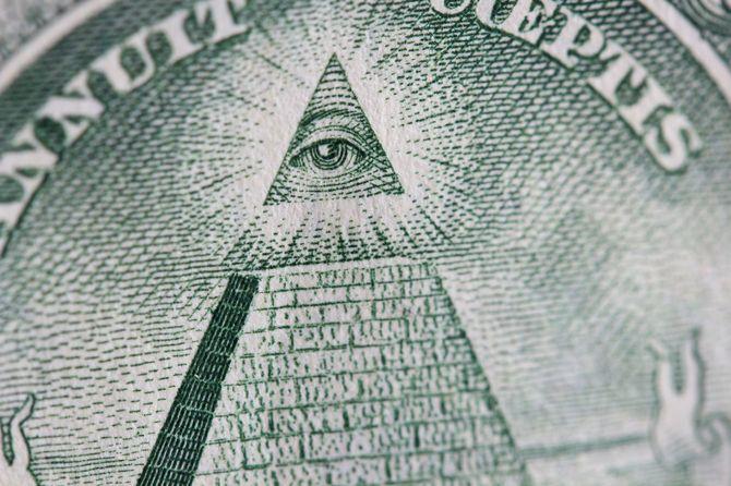 1ドル紙幣に描かれた「摂理の目」