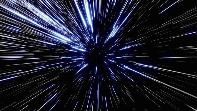粒子ズーム背景