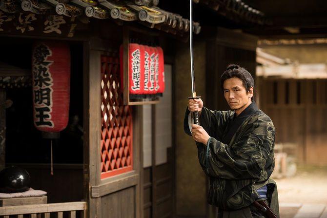 伝統的な日本のサムライ 浪人