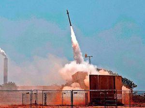 イスラエルの防空システム「アイアンドーム」。