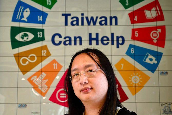 台湾デジタル大臣のオードリー・タン氏(アンバー・ワン氏によるインタビューにて=2020年6月16日