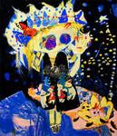 澤登丈夫コレクションから、はまぐちさくらこの作品。1981年京都生まれの若手ながら、来年2月から大阪の国立国際美術館で開催される新築移転5周年記念展「現代日本の絵画」に参加予定。