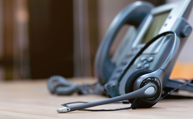 ヘッドセットと電話