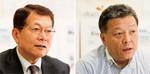 (左)桑原道夫社長。大株主の丸紅・副社長を経て、2010年より社長。(右)芝村浩三店長。1995年に広島で店長となり、岡山、藤沢、古川橋、鴨居で一貫して店長を務める。09年11月より現職。
