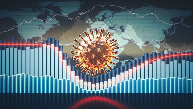 コロナウイルスと株価チャート