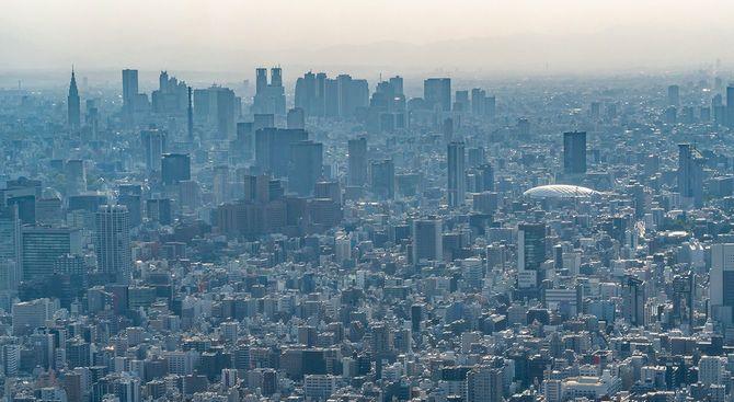 東京のの街並み。東京は日本の首都です。