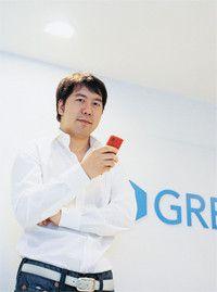 <strong>グリー 田中良和代表取締役社長</strong>●1977年、東京都生まれ。日本大学法学部卒業後、ソニーコミュニケーションネットワーク入社。2000年、楽天入社。04年2月、「GREE」を個人で立ち上げる。同年12月、グリー株式会社を設立し、社長に就任。