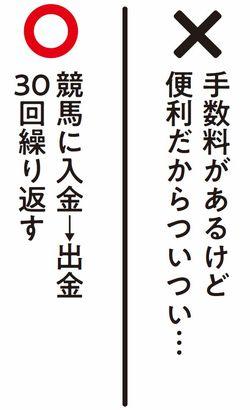競馬に入金→出金30回繰り返す