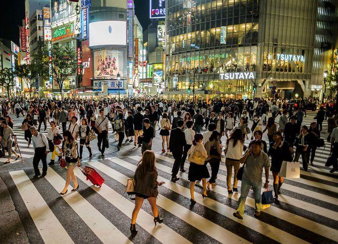 2012年10月5日の渋谷スクランブル交差点