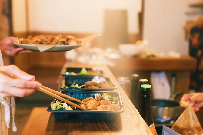 日本で弁当を作る