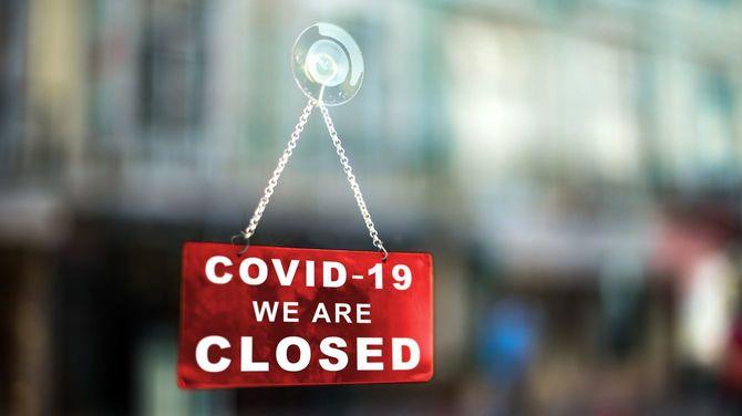 コロナウイルスによる閉店