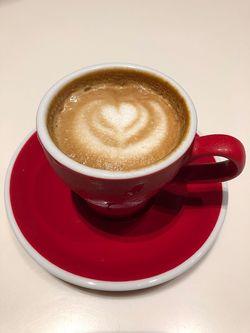新商品「ラテアート コーヒーゼリー」。ゼリー状のため、消えないラテアートを楽しめる