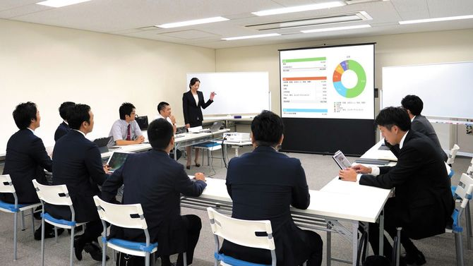 会議室でプロジェクトについて議論
