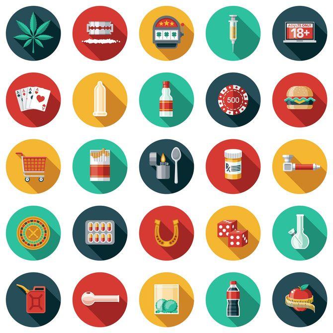 多様な嗜癖のイラスト