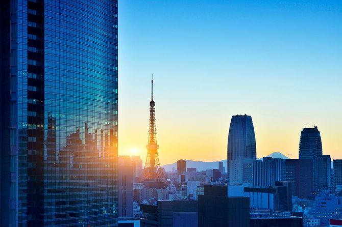 東京タワーと高層ビル