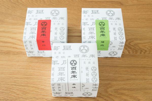 宇佐美商店/百年床のぬか炊き缶詰(左から辛口、本味、梅味)各195g 3缶セット税込み4800円