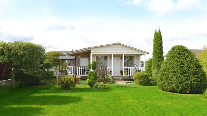 広い庭のある、地方の一軒家